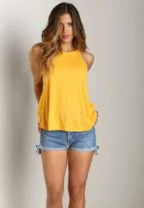 Free People racer back tank top small